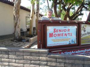 Senior Moments Poster Front of Playhouse low res